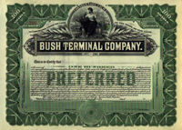 bush terminal brooklyn stock certificate