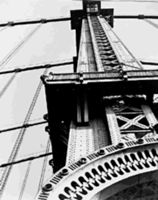 photograph of manhattan bridge, brooklyn, by berenice abbott